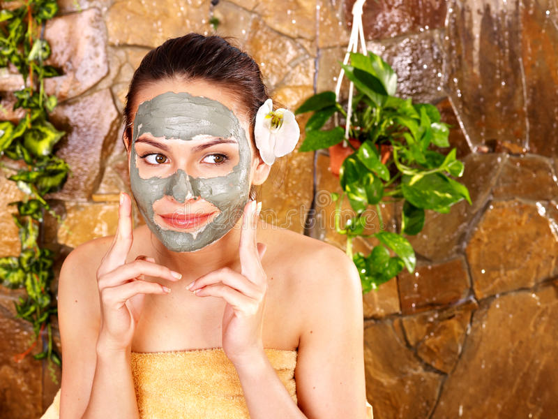 Download Young Woman  Having Clay Body Mask. Royalty Free Stock Photo - Image: 21437395