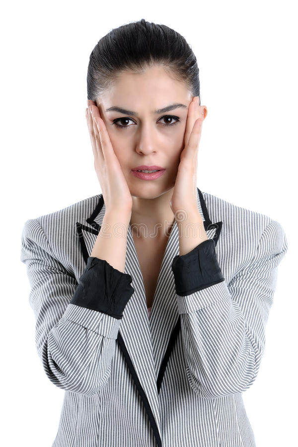 Download Young Woman Having A Headache Stock Photo - Image: 24227332
