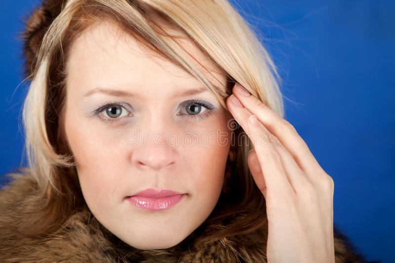 Download Young Woman Having A Headache Close Up Stock Photo - Image of health, cute: 18900198