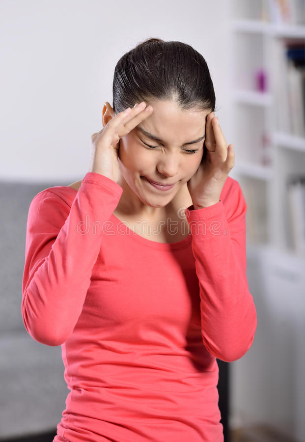 Download Young Woman Having A Headache Stock Image - Image: 36995601