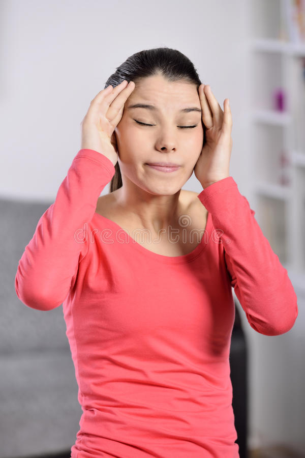 Download Young Woman Having A Headache Royalty Free Stock Image - Image: 36995626