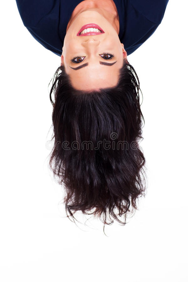 Download Head upside down stock image. Image of long, beauty, background - 30274165