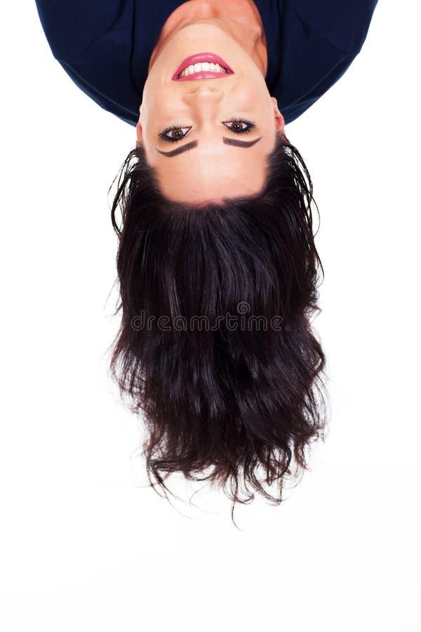 Head upside down royalty free stock photo