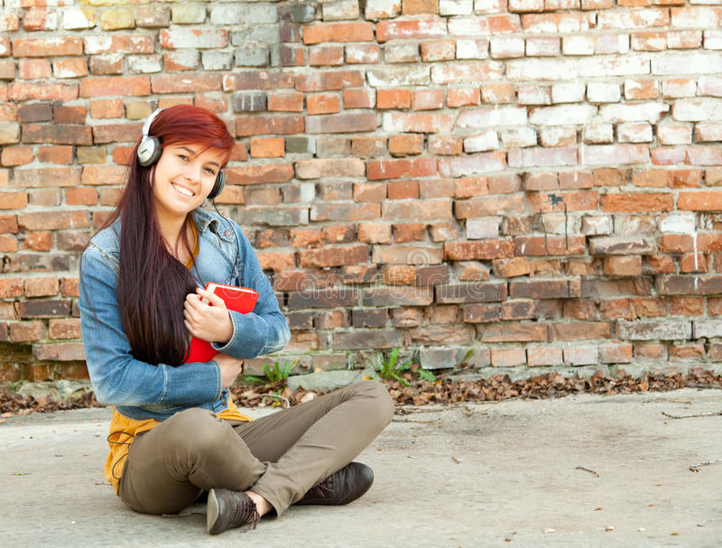 Download Young Woman With Headphones Stock Image - Image: 21750907