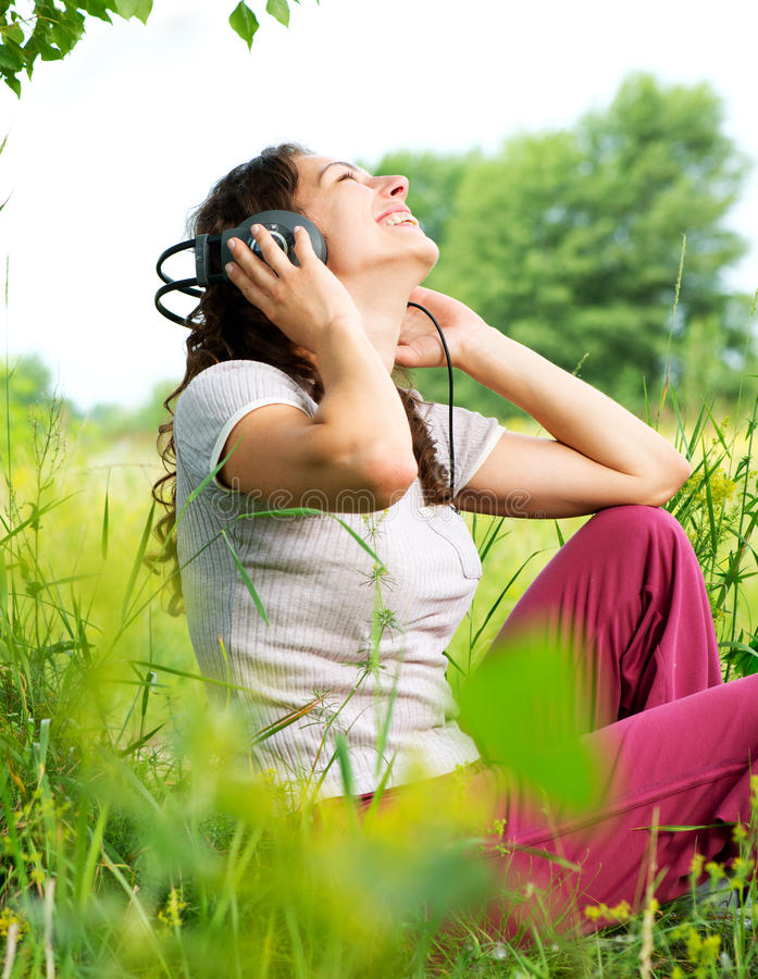 Download Young Woman With Headphones Stock Photo - Image: 25452552