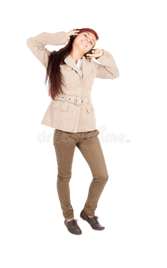 Download Young Woman In Headphones Enjoying Music Stock Image - Image of lifestyle, happy: 21964985