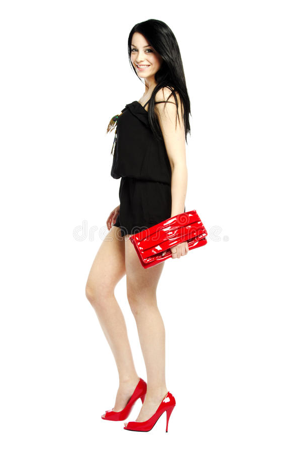 Download Young Woman In Heals Smiling For Camera Stock Photo - Image: 21906238
