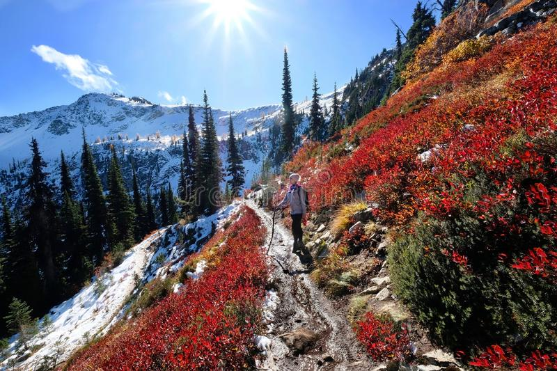 Vacation travel in Cascade Mountains. stock photo