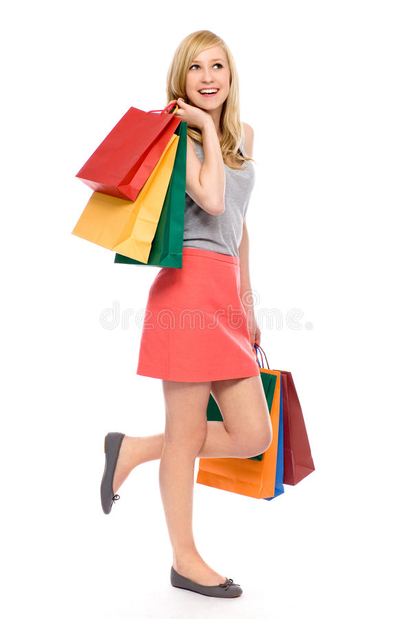 Download Young Woman Holding Shopping Bags Stock Image - Image: 20327937