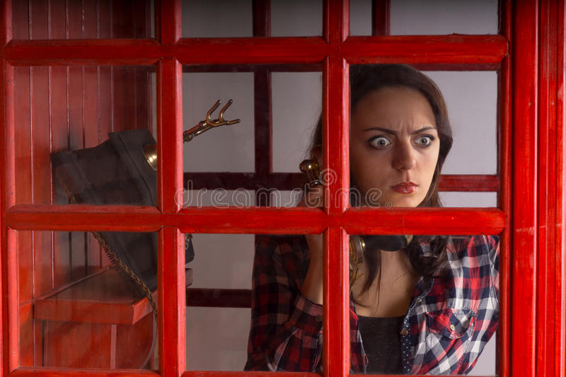 Download Young Woman With A Horrified Expression Stock Image - Image of assistance, intense: 48501021