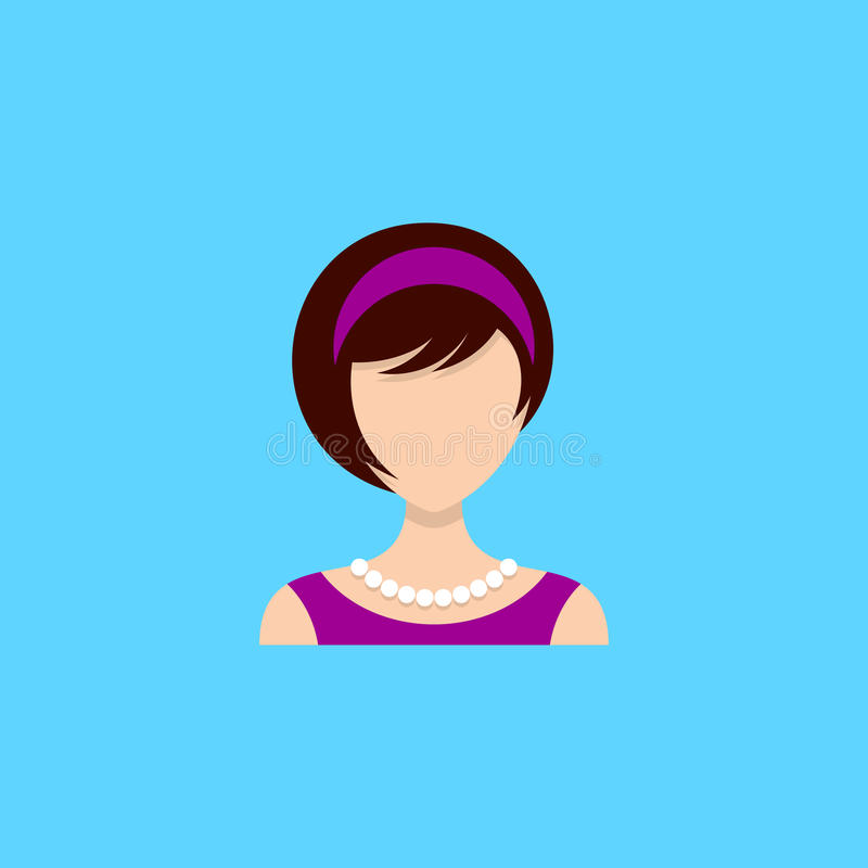 Young woman icon royalty free illustration