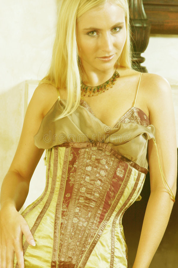 Free Young Woman In Antique Dress 3 Stock Image - 168071