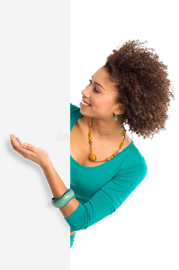 Download Woman Displaying Placard stock image. Image of advertisement - 29912605