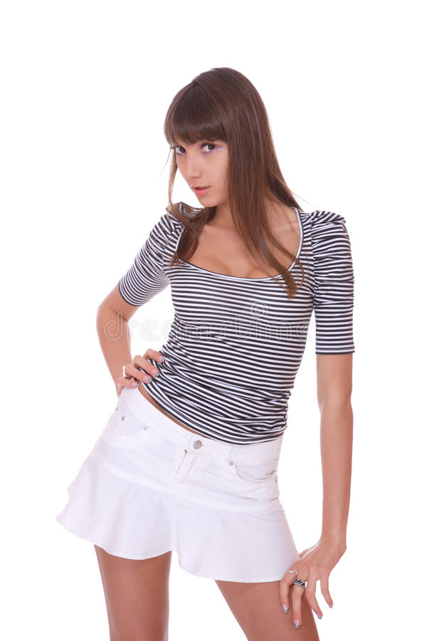 Download Young Woman In Jeans Shorts Stock Photo - Image: 13935284