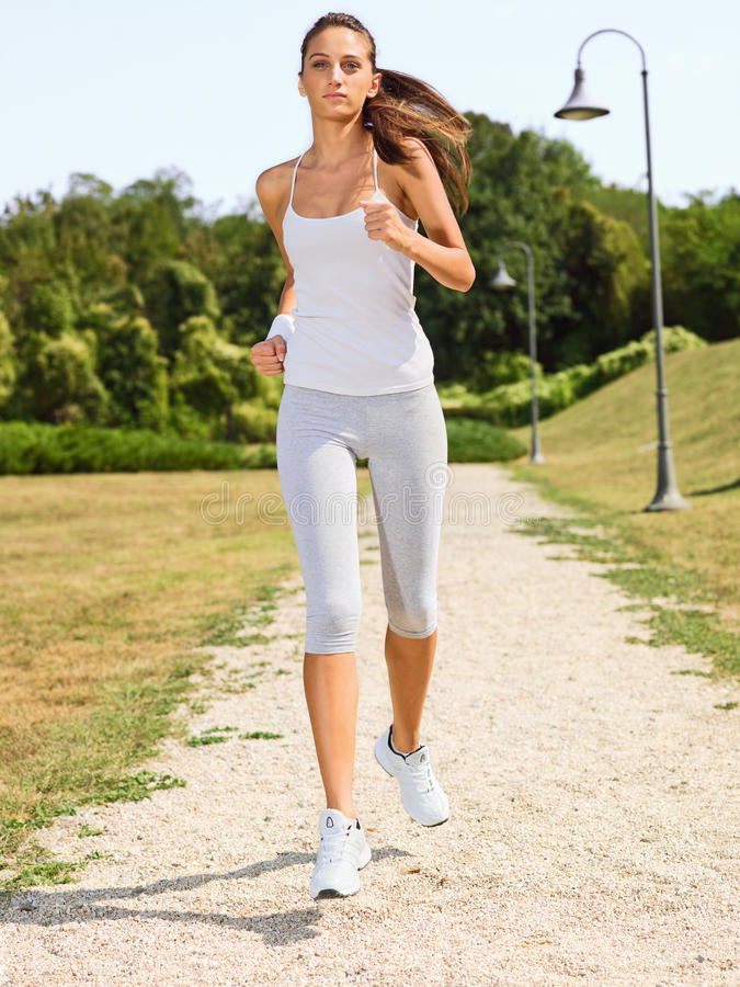 Download Young woman jogging stock image. Image of caucasian, portrait - 23628727