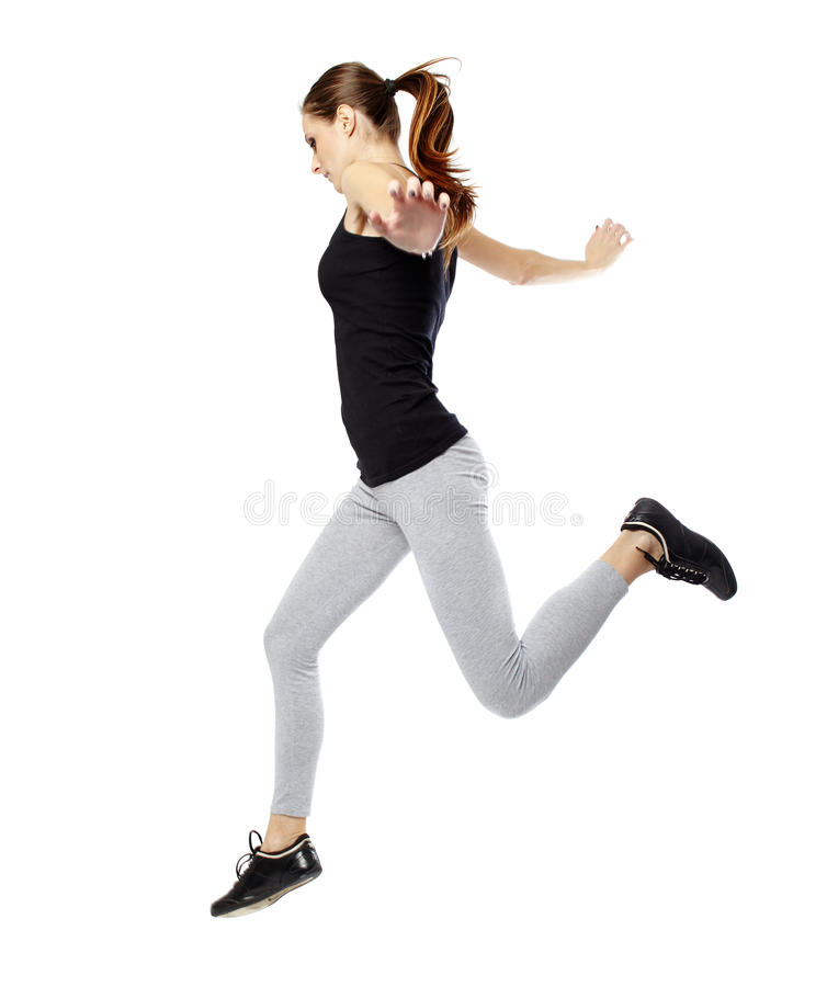 Download Young woman jumping stock photo. Image of flying, jumping - 38963062