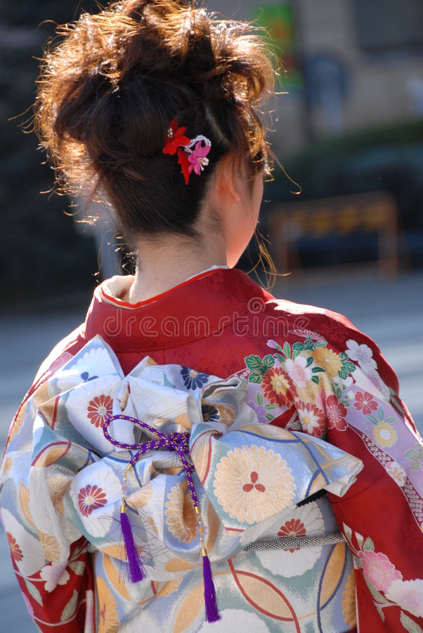 Download Young Woman In Kimono Dress Stock Image - Image: 1831759