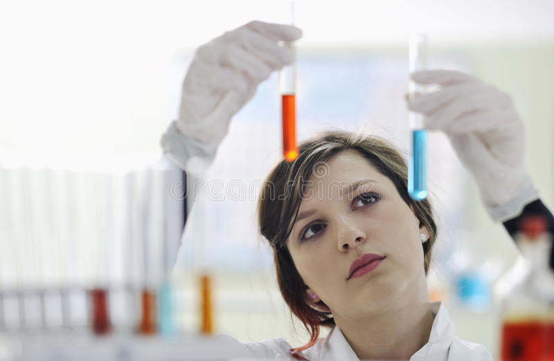 Download Young woman in lab stock image. Image of research, professional - 14810799