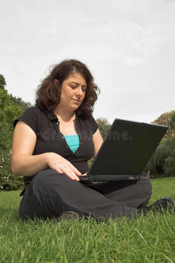 Download Young woman with laptop stock photo. Image of laptop, education - 1505694