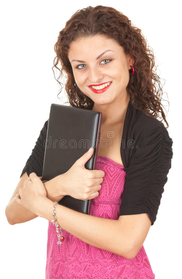 Download Young woman with laptop stock photo. Image of smiling - 21278598