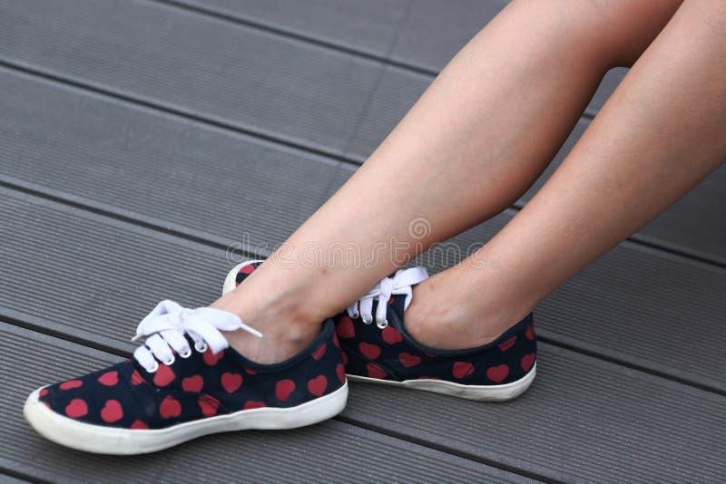 Young woman legs stock photos