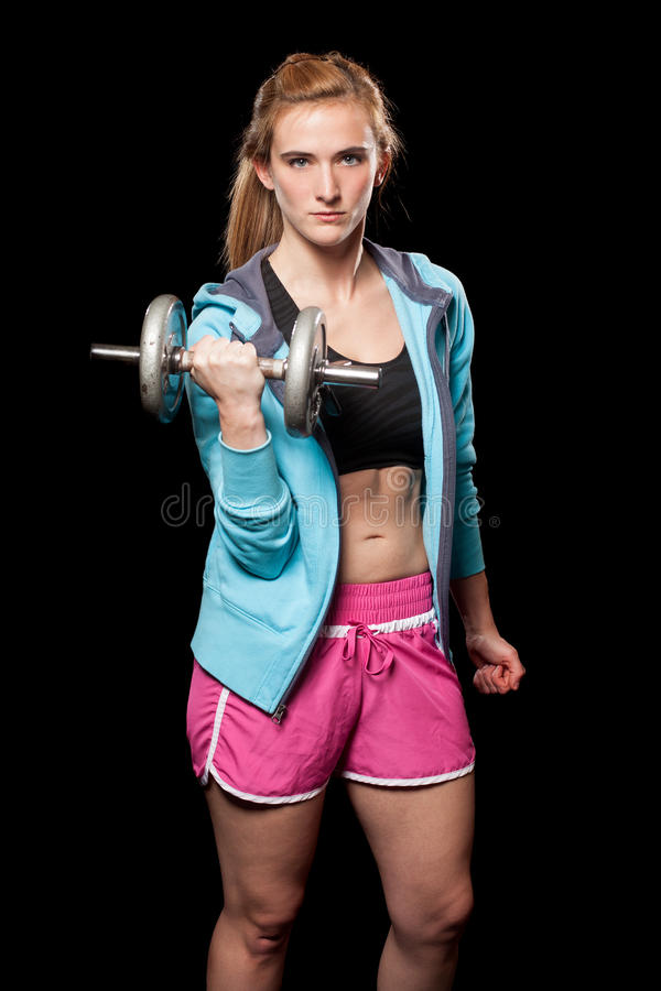 Download Young Woman Lifting Weights Stock Image - Image: 29055845