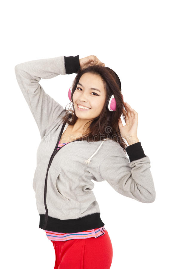 Download Young woman listen music stock image. Image of listen - 23845659