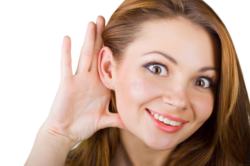 Download Young woman listening stock photo. Image of cheerful - 24501222