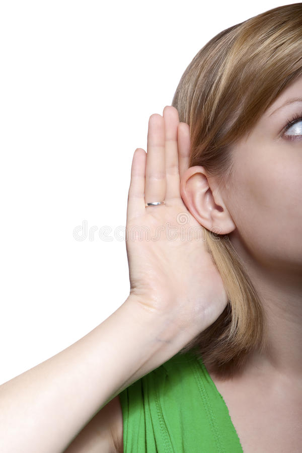 Download Young Woman Listening To Gossip Stock Image - Image: 10255611