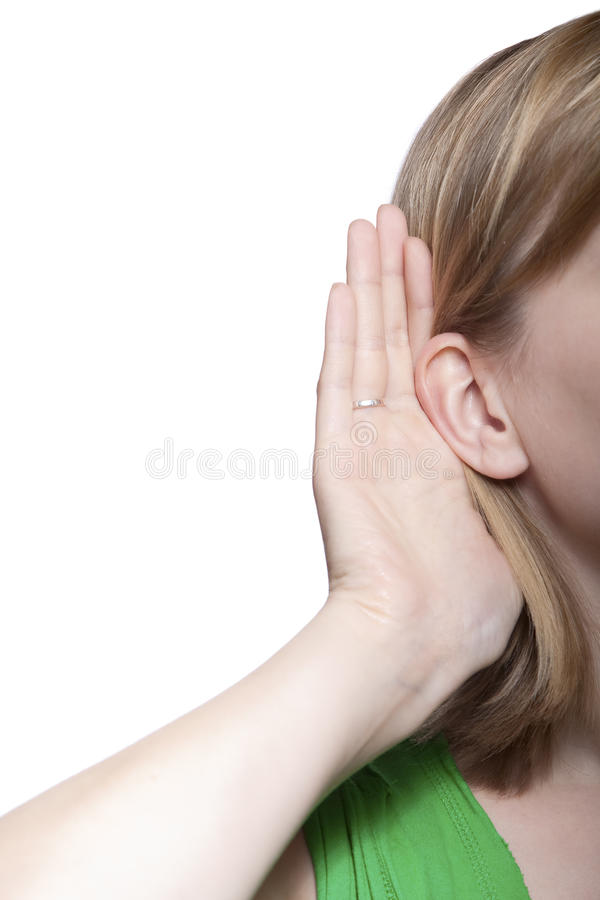 Download Young Woman Listening To Gossip Stock Image - Image: 10328715