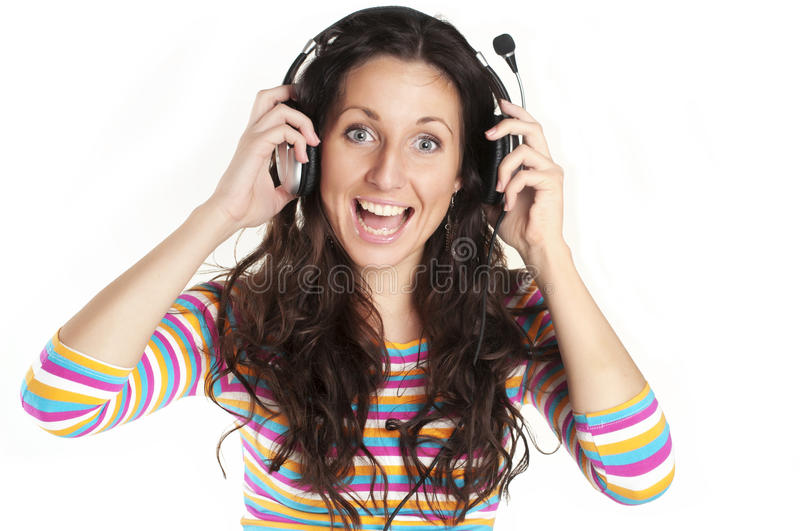 Download Young Woman Listening To Music Stock Photo - Image: 18992754