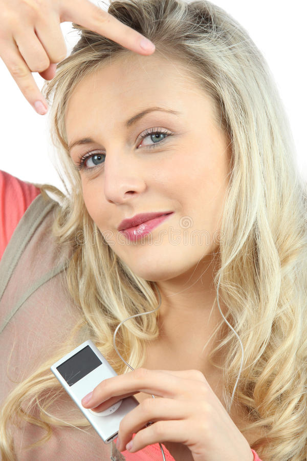 Download Young Woman Listening To Music Stock Photo - Image: 35515256