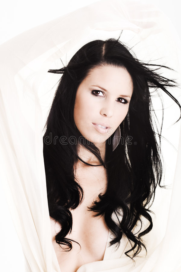 Download Young Woman With Long Flying Hair Stock Image - Image: 7433961