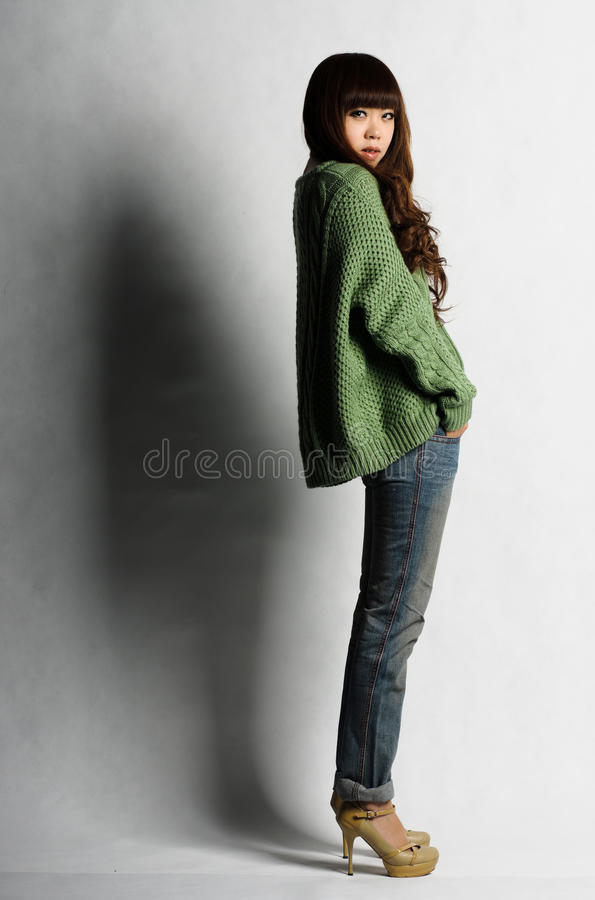 Download Young woman with long hair stock photo. Image of girl - 22984822