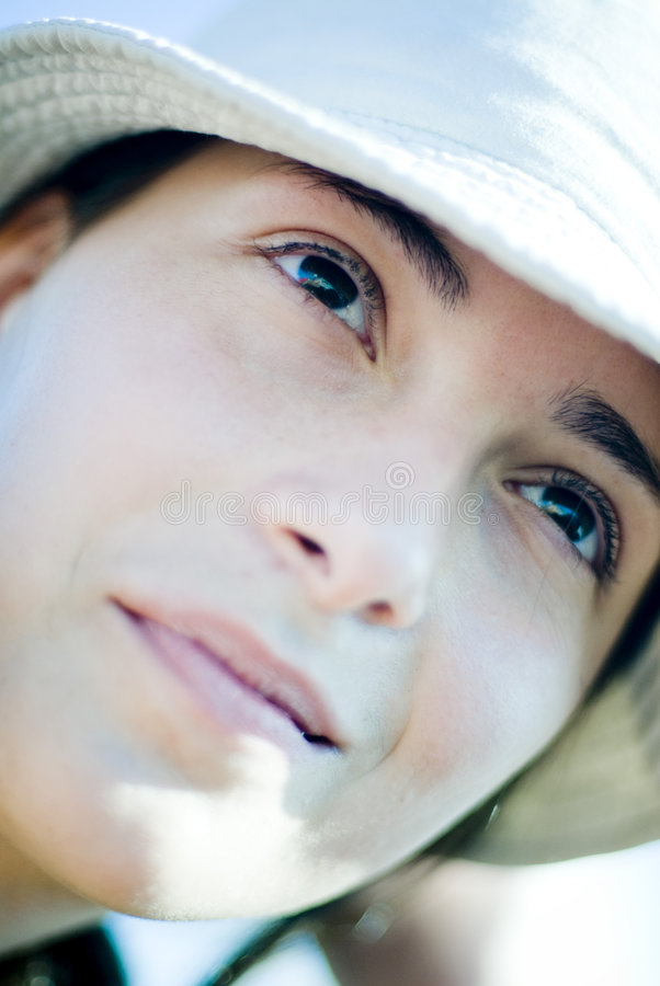 Free Young Woman Looking Up Stock Photo - 3840980