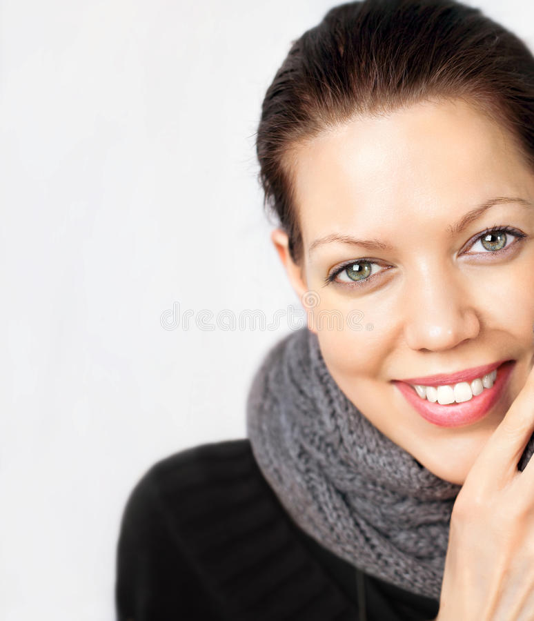 Young woman looking very well royalty free stock photography