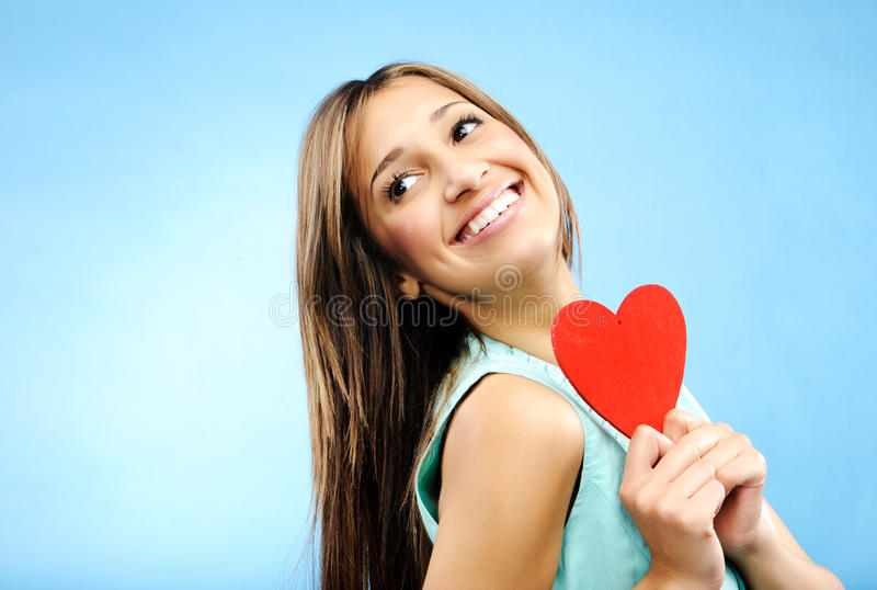 Young woman in love royalty free stock photo