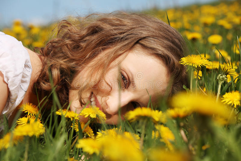 Download Young Woman Is Lying On Meadow. Stock Photos - Image: 25541833