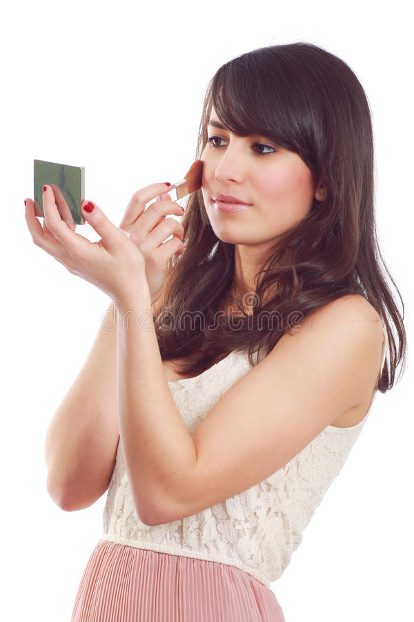 Young woman make up royalty free stock photography