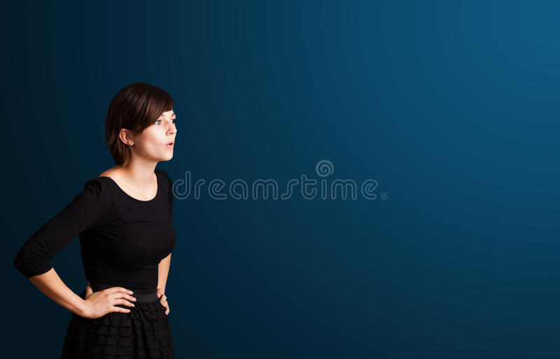 Download Young Woman Making Gestures Stock Image - Image: 27643535