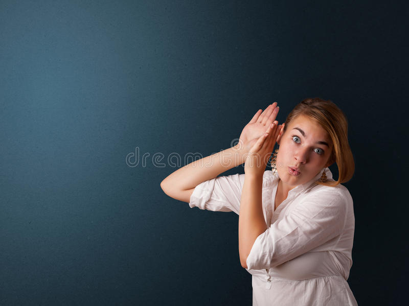 Download Young Woman Making Gestures Stock Photo - Image: 28894924