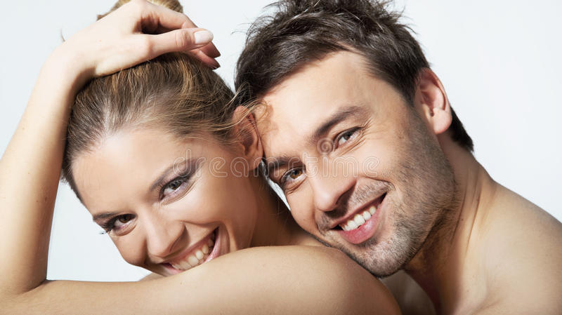Young woman and man royalty free stock photo