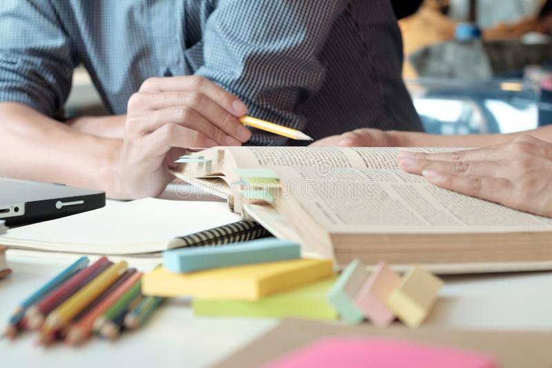 People, learning, education and school concept. royalty free stock photos