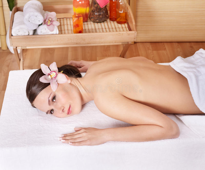 Download Young Woman On Massage Table In Beauty Spa. Stock Image - Image: 16929473