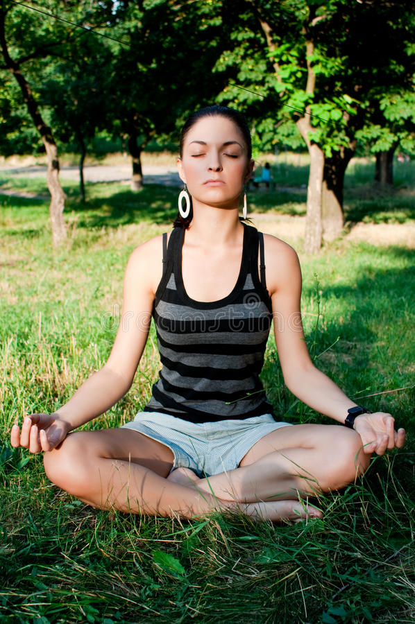 Young woman meditation royalty free stock images