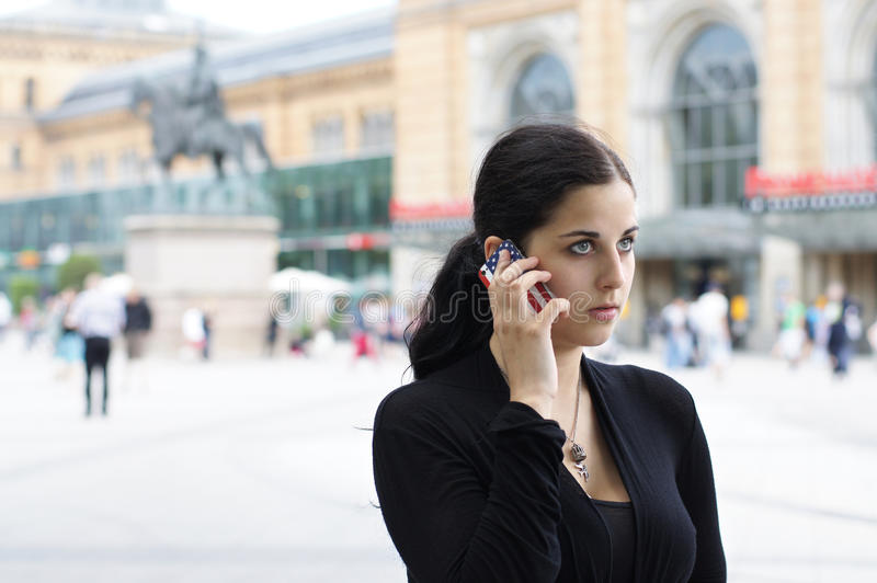 Download Young Woman With Mobile Phone Stock Image - Image: 20235375