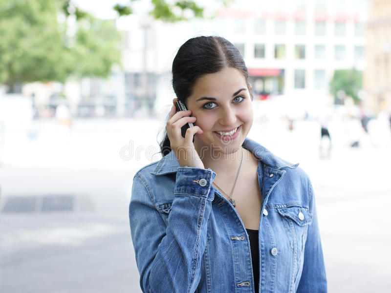Download Young Woman With Mobile Phone Stock Photo - Image: 20248238