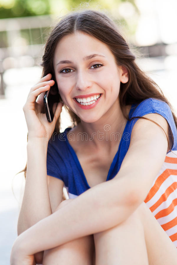 Download Young Woman With Mobile Phone Stock Image - Image: 32387015