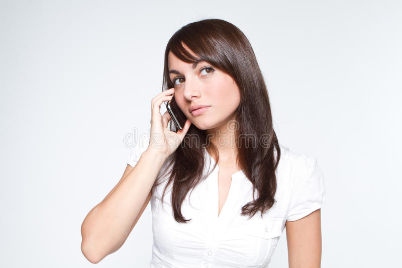 Download Young Woman With Mobilephone Stock Image - Image: 16662201
