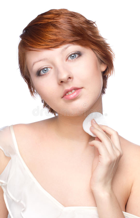 Download Young Woman At Morning Making The Spa Treatment Stock Image - Image: 92136551
